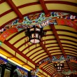 Dujiangyan, China:  Ceiling of Nan Qiao Covered Briedge — Stock Photo