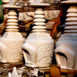 Pengzhou, China: Miniature Daboga Burial Urns at Ci Ji Temple — Stock Photo