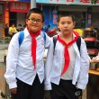 Pengzhou, China: Two Little Boys in School Uniforms — Stock Photo #35949903