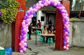 Pengzhou, China: Farmhouse Wedding Luncheon — Stock Photo