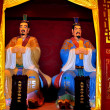 Langzhong Ancient City, China: Buddha Figures at Confucious Temple — Stock Photo