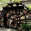 Dujiangyan, China:  Wooden Water Wheel — Stock Photo