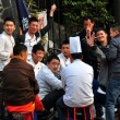 Pengzhou, China: Restaurant Workers Playing Cards — Stock Photo