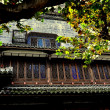 Dujiangyan, China: Stone House with Lattice Work Windows — Stock Photo
