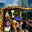 Bangkok, Thailand: Giraffe Puppets at Children's Day Festivities — Stock Photo #36053719