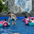 Bangkok, Thailand: Children Boating at Siam Paragon — Stock Photo