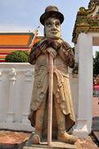 Bangkok, Thailand: Marco Polo Statue at Wat Pho — Stock Photo