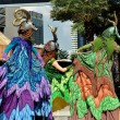 Stock Photo: Bangkok, Thailand: Antelope Stilt-Walking Performers at Children's Day Festivities