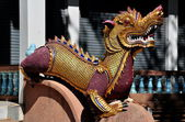 Chiang Mai, Thailand: Dragon Figure at Wat Chai Mongkhol — Stock Photo