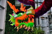 Bangkok, Thailand: Chinese New Year Dragon at Siam Paragon Shopping Center — Stock Photo