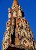 Chiang Mai, Thailand: Temple Spire at Wat Mulan — Stock Photo