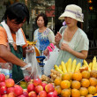 Stock Photo: Bangkok, Thailand: Fruit Seller on Lang SuRoad