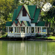 Stock Photo: Bangkok, Thailand: Lakeside Pavilion in Lumphini Park