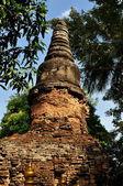 Chiang Mai, Thailand: Brick Chedi Ruins at Wat Umongmahaterachan — Stockfoto