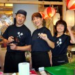 Bangkok, Thailand:  Three Workers at Japanese Restaurant — Foto de Stock