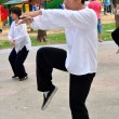 Bangkok, Thailand: Man Doing Tai 'Chi in Lumphini Park — Stock Photo