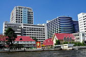 Bangkok, Thailand: Siriraj Hospital and Chao Praya River — Stock Photo