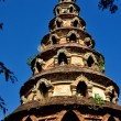 Chiang Mai, Thailand:  Ancient Chedi at Wat Muen Ngen Kong — Stock Photo