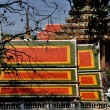 Stock Photo: Saraburi, Thailand: Colourful Temple Roofs at Wat PhrPhutthabat