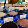 Lamphun, Thailand:  Varieties of Rice at Mea Tha Market — Stock Photo