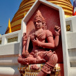 Bangkok, Thailand:  Red Terra Cotta Buddha at Wat Boworniwet — Stock Photo