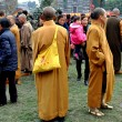Pengzhou, China:  Group of Monks at Long Xing Monastery — 图库照片