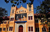Bangkok, Thailand: Church School at Wat Boworniwet — Стоковое фото