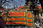 Saraburi, Thailand: Colourful Temple Roofs at Wat Phra Phutthabat — Stock Photo