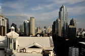 Bangkok, Thailand: View of Ratchadamri Skyline — Stock Photo