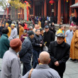 Stock Photo: Pengzhou, China: Crowds of People at Long Xing Monastery