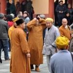 Penghou, China: Monks at Long Xing Monastery — Stock Photo