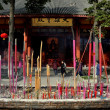 Pengzhou, China: Burning Incense at Long Xing Monastery — Stock Photo