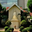 Stock Photo: Bangkok, Thailand: Half-Chedi at Monastic House at Wat Pathum Wanaram