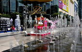 Bangkok, Tailândia: siam paragon shopping center e fontes — Fotografia Stock