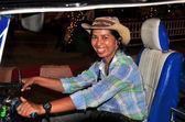 Chiang Mai, Thailand: SmilingTul-tuk Driver — Stock Photo