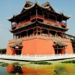 Luo Dai, China: Five Phoenix Pavilion and Moat — Stock Photo