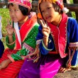 Chiang Mai, Thailand:  Two Hill Tribe Little Girls — Zdjęcie stockowe