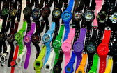 Chiang Mai, Thailand: Wrist Watch Display at Night Bazaar Market — Stock Photo