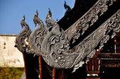 Chiang Mai, Thailand: Detail of Vihan at Wat Chedi Luang — Stockfoto