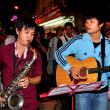 Stock Photo: Chiang Mai, Thailand: Musicians Entertaining on Walking Street