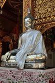 Chiang Mai, Thailand: Silver Buddha at Wat Sri Suphan — Stock Photo