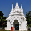 Chiang Mai, Thailand: Monk and Entrance Gate at Wat Suan Dok — Stock Photo