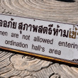 Chiang Mai, Thailand: Sign Restricting Women at Wat Sri Suphan — Stock Photo