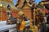 Chiang Mai, Thailand: Buddha Figures at Wat Doi Suthep — Stock Photo