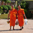 Chiang Mai, Thailand:  Two Monks at Wat Suan Dok — Foto de Stock