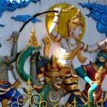 Chiang Mai, Thailand: Bas Relief Decoratiions at Wat Ku Tao — Stock Photo