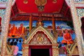 Chiang Mai, Thailand: Frescoes at Wat Puak Pia — Stock Photo
