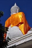 Chiangmai, Thailand: weiße Riesenbuddha Abbildung Wat, Satoi — Stockfoto