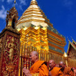 Chiang Mai, Thailand: A Procession of Monks at Wat Doi Suthep — Photo