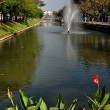 Chiang Mai, Thailand:  Ancient City Moat and Fountains — Stock Photo